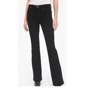Black Faux Crushed Velvet Pant Size 12 by GAP